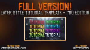 Layer Style Text Tutorial -  Full Version Download - Photoshop Tutorial