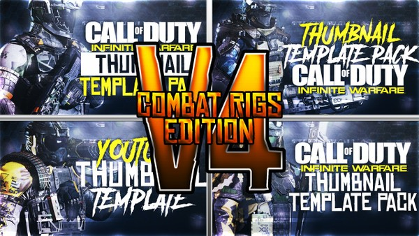 Infinite Warfare - Combat Rigs Edition - Thumbnail Template Pack V4 - Photoshop Template