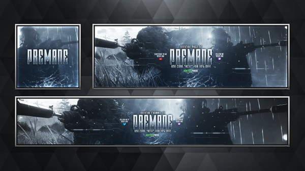 Social Media Revamp Pack V11 - Modern Warfare Remastered - Pre-made Design Service