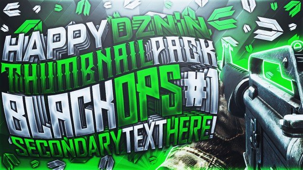 Black Ops - YouTube Thumbnail Template Pack - Photoshop
