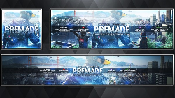 Social Media Revamp Pack V17 - Watch Dogs 2 - Photoshop Template