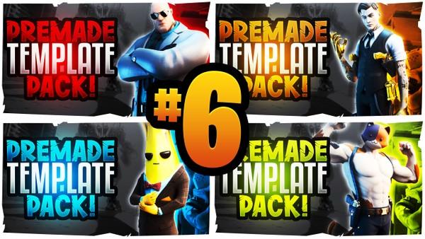 Fortnite YouTube Thumbnail Template Pack #6 - Season 10 Edition