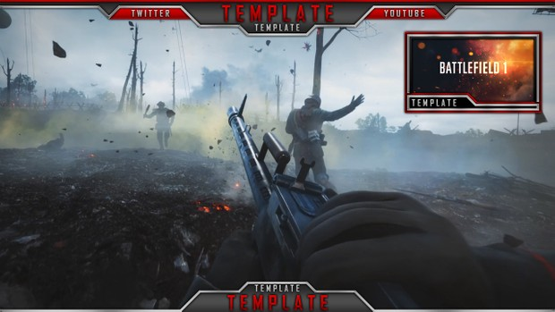 Live Stream Overlay Template Pack V4 - Photoshop Template