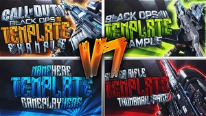 Black Ops 3 Thumbnail Template Pack V7