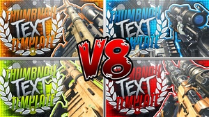 YouTube Thumbnail Template Pack V8 - Infinite Warfare Sniper Rifles - Photoshop Template