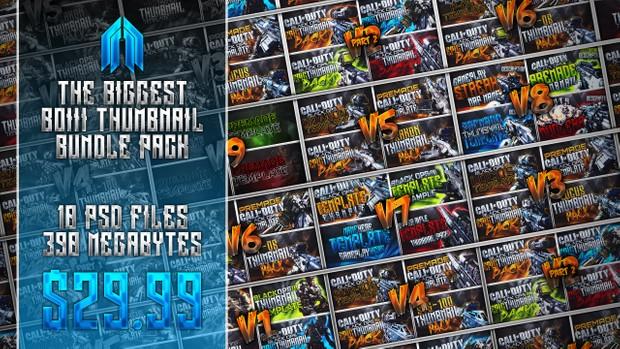 Biggest Black Ops 3 Thumbnail Template Bundle Pack Ever!