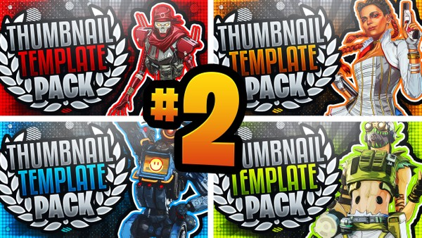 Apex Legends: Season 4 YouTube Thumbnail Template Pack #2 - Photoshop Template