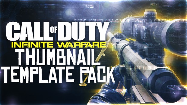 Infinite Warfare - TF 141 Intervention Sniper Rifle Edition - Thumbnail Template Pack V4 - Photoshop