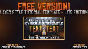 Layer Style Text Tutorial -  Lite Version Download - Photoshop Tutorial
