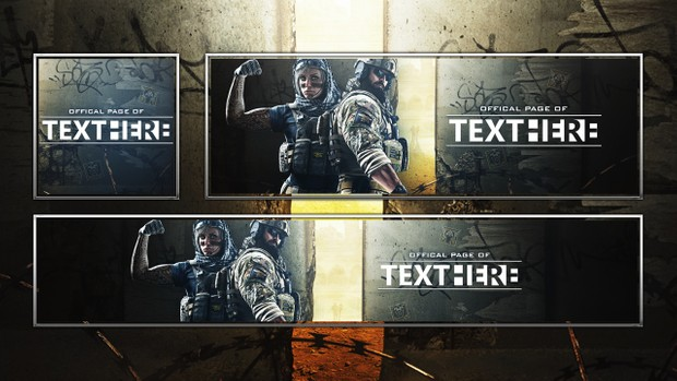 Rainbow Six Siege - Dust Line DLC - Revamp Template - Photoshop