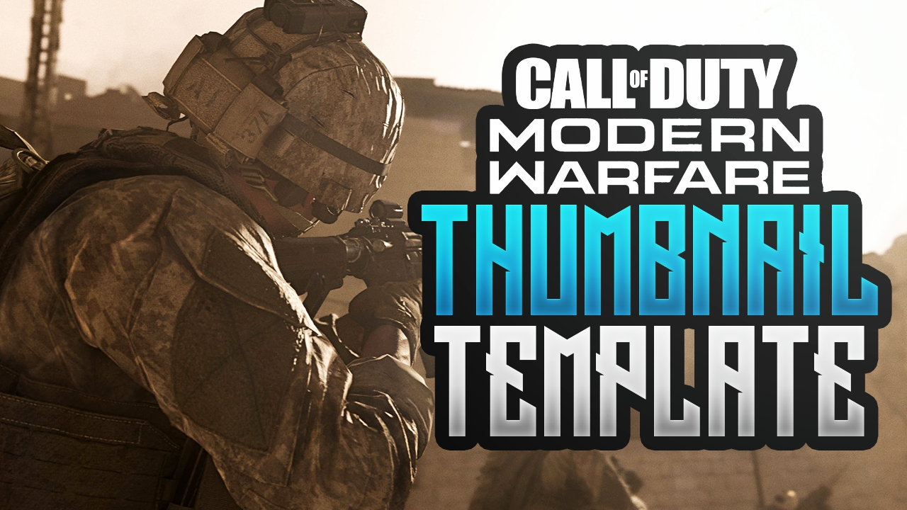 Modern Warfare Free Youtube Thumbnail Template Pho Acez Graphics Templates