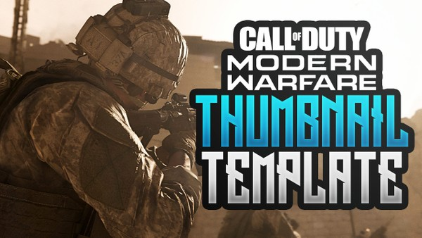 Modern Warfare - Free YouTube Thumbnail Template - Photoshop Template