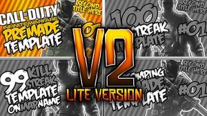 Infinite Warfare Thumbnail template Pack V2 - Lite Version - Photoshop Template