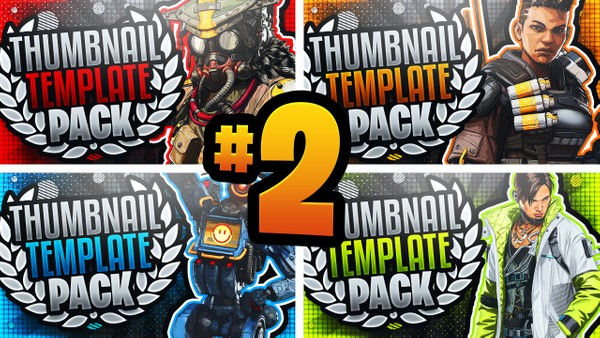 Apex Legends: Season 3 YouTube Thumbnail Template Pack #2 - Photoshop Template