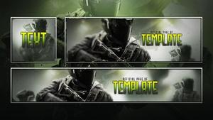Infinite Warfare - FREE Social Media Revamp Template Pack - Photoshop