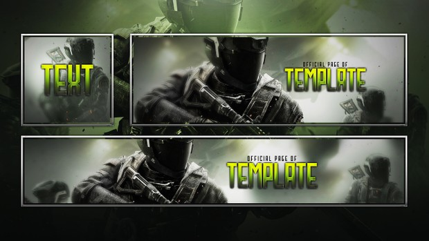 Infinite Warfare - FREE Social Media Revamp Template Pack - Photoshop