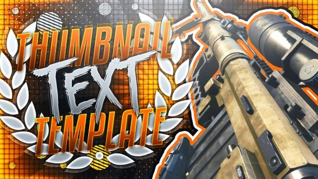 YouTube Thumbnail Template Pack V8 - Infinite Warfare Sniper Rifles - Photoshop Template