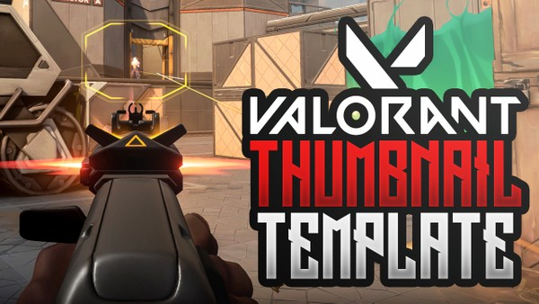 FREE Valorant YouTube Thumbnail Template - Photoshop Template