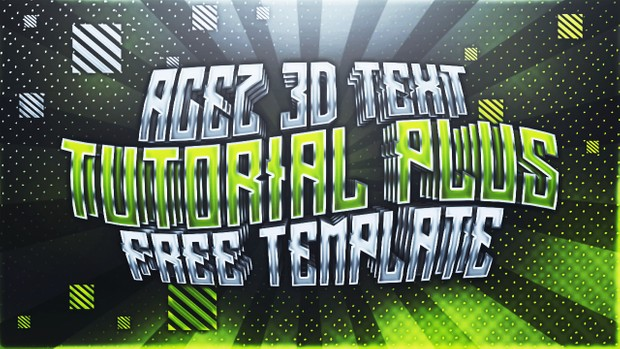 3D Text Effect - Full Version Download - Photoshop Tutorial