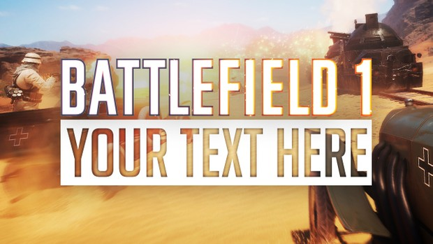 Battlefield 1 Free Thumbnail Template - Photoshop Template