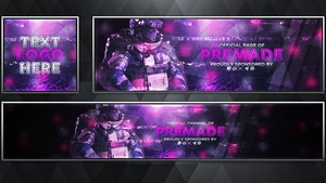 Merc - Infinite Warfare - Social Media Revamp Pack V25 - Photoshop Template