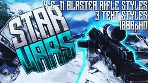 E-11 Blaster Rifle Thumbnail Pack - Star Wars Battlefront - YouTube Thumbnail Template