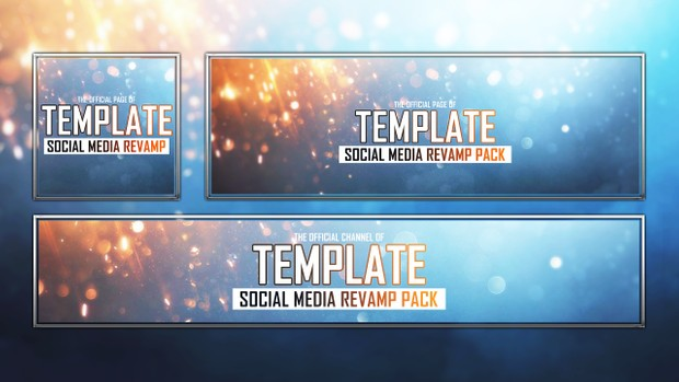 Battlefield 1 - Deluxe -Social Media Revamp Template Pack - Photoshop Template