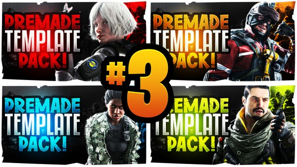 Rainbow Six Siege Thumbnail Template Pack V3 - Operation Steel Wave