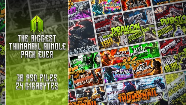 Biggest Thumbnail Template Bundle Pack Ever!