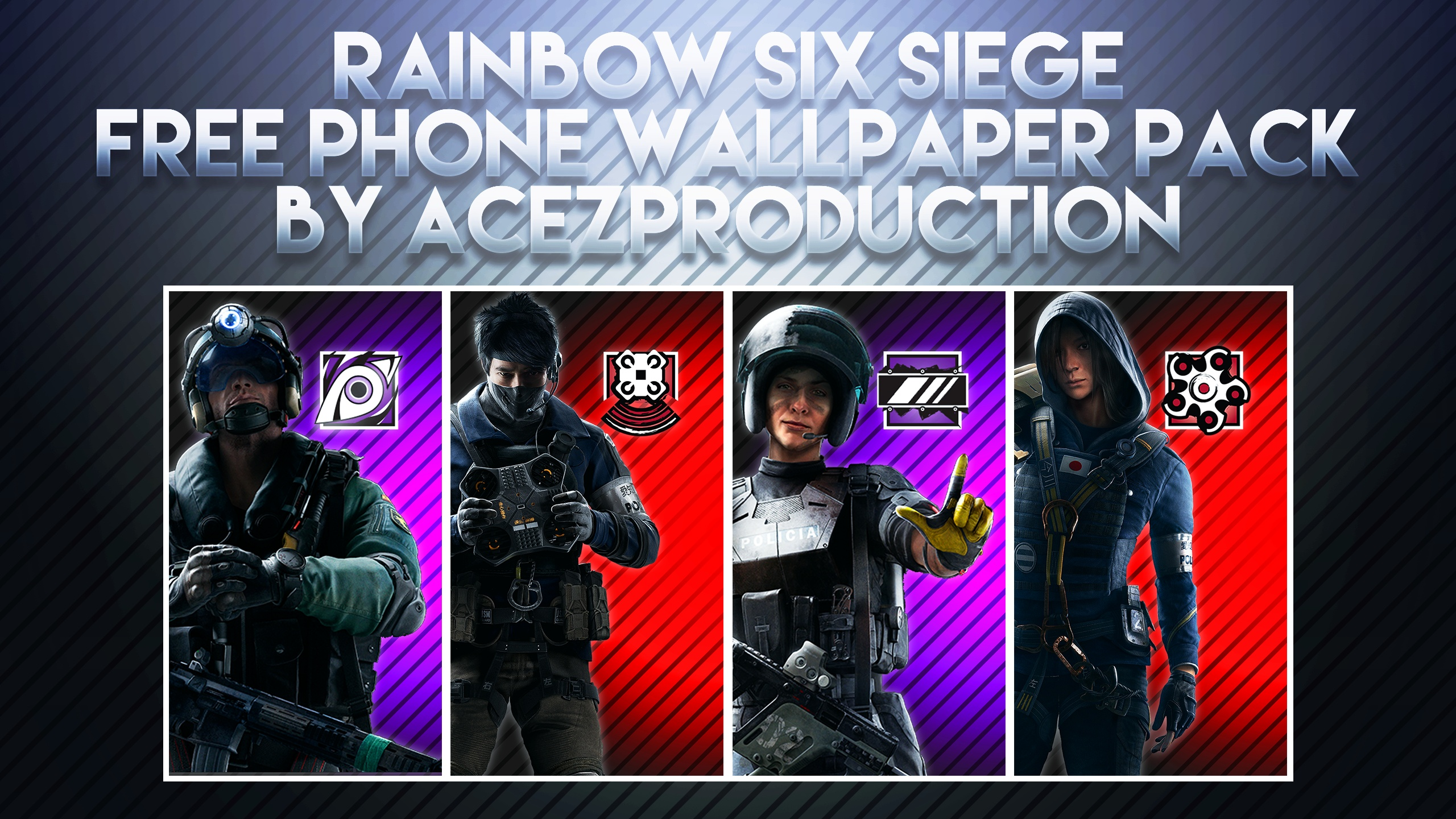 Rainbow Six Siege V2 Phone Wallpaper Pack Free Dow Acez