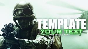 Modern Warfare - Remastered - YouTube Thumbnail Template