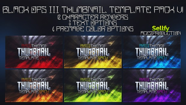 Black Ops 3 Thumbnail Template Pack V1 - Character Edition