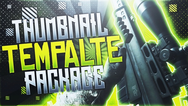 Modern Warfare Remastered - Thumbnail Template Pack V5 - Photoshop Template