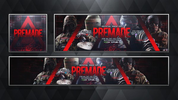 Social Media Revamp Pack V13 - Rainbow Six Siege - Spetsnaz Edition - Photoshop Template