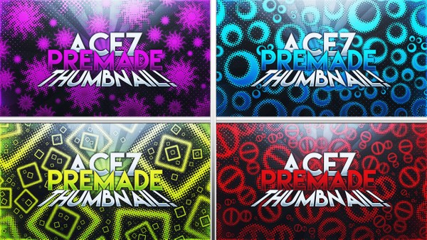 Free YouTube Photoshop Thumbnail Template Pack