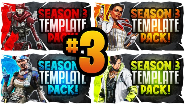 Apex Legends YouTube Thumbnail Template Pack #3 - Season 4 Edition