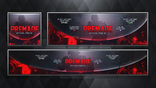 Social Media Revamp Pack V16 - Modern Warfare Remastered - Photoshop Template