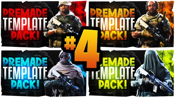 Modern Warfare YouTube Thumbnail Template Pack #4