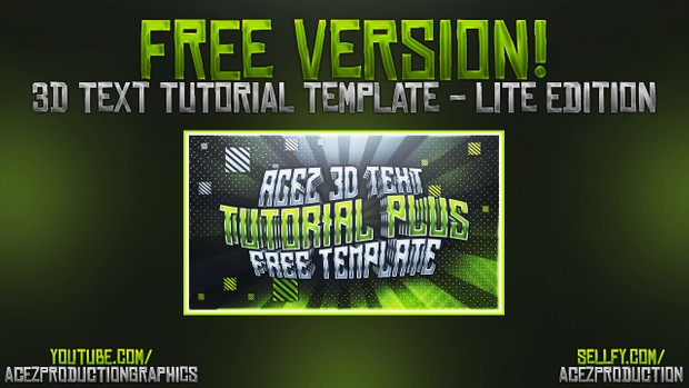 3D Text Effect - Free Version Download - Photoshop Tutorial