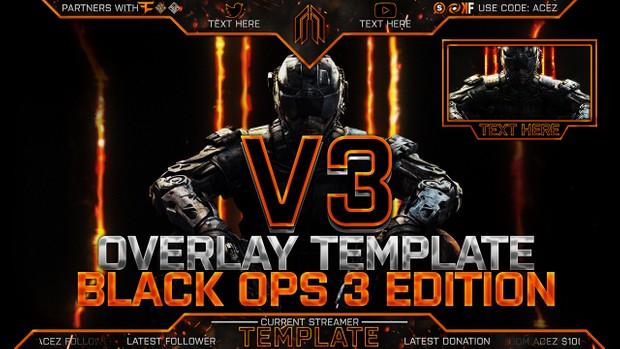 Stream Overlay Template Pack V3 - BO3 Edition