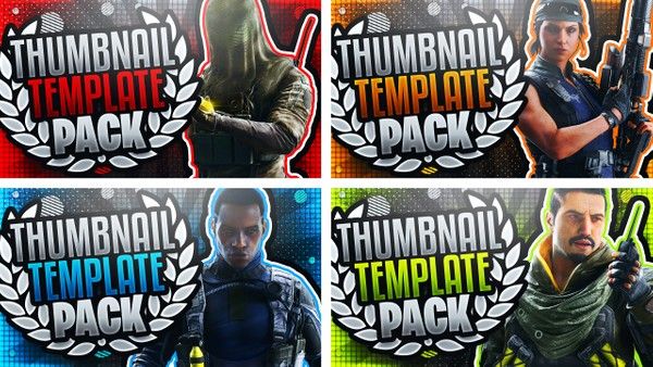 Rainbow Six Siege Thumbnail Template Pack #2 - YouTube Thumbnail Template Photoshop - Shifting Tides