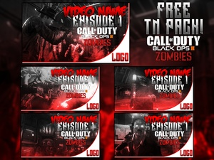 Black Ops III Zombies Thumbnail Pack - YouTube Template PSD