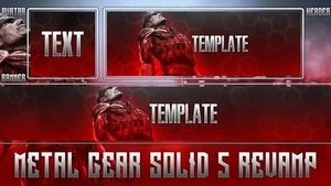 Metal Gear Solid 5 - Photoshop Revamp Template Pack