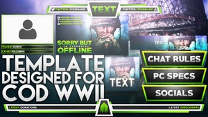 Ultimate Live Stream Overlay Template Pack - Call of Duty World War 2 - Volume 10