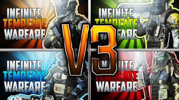 Infinite Warfare Thumbnail Template Pack V3 - Combat Rigs Edition - Photoshop Template