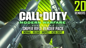 Modern Warfare Remastered Sniper Rifle Render Pack