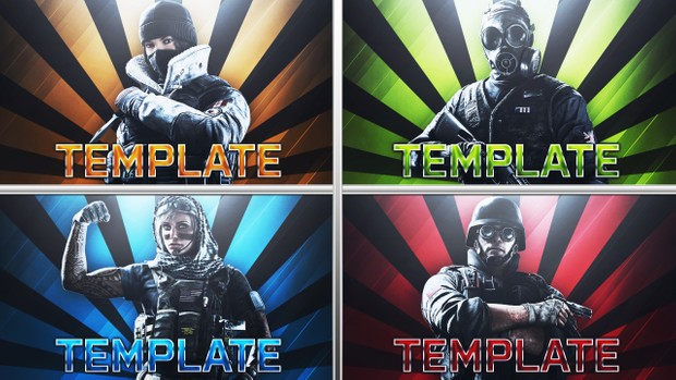 Rainbow Six Siege - Funny Moments - YouTube Thumbnail Template Pack
