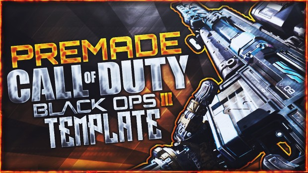 Black Ops 3 Thumbnail Template Pack V3 - Locus Sniper Rifle Edition