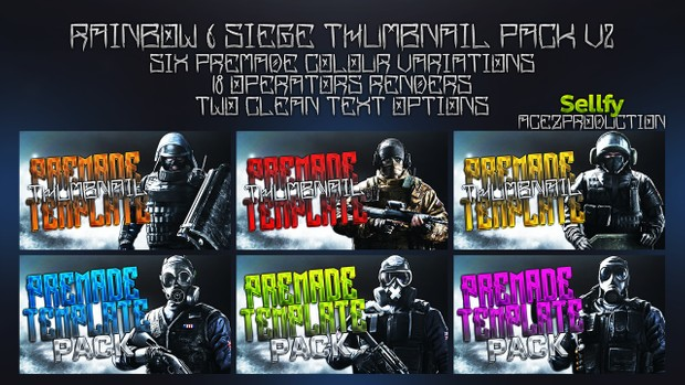 Rainbow Six Siege Ultimate Thumbnail Pack V2
