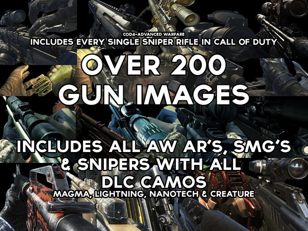 CoD Gun Image Pack - PNG Transparent Pack